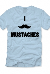 Mustache (light blue)