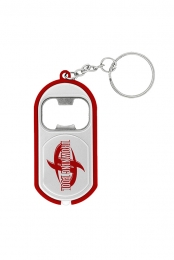 Logo Bottle Opener Flashlight Keychain