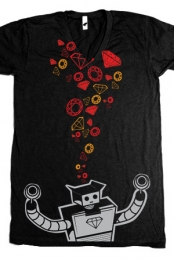 Robot V-Neck (black)