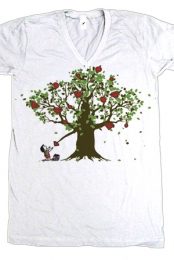 Blinging Tree V-Neck (white)