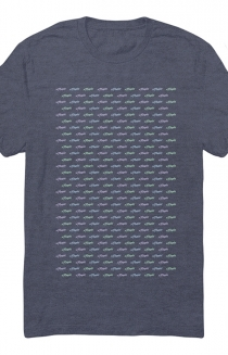 Logo Repeat Tee (Indigo)
