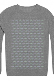 Logo Repeat Sweatshirt (Dark Grey)