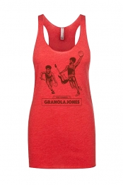 Granola Jones Girls Racerback Tank (Vintage Red)