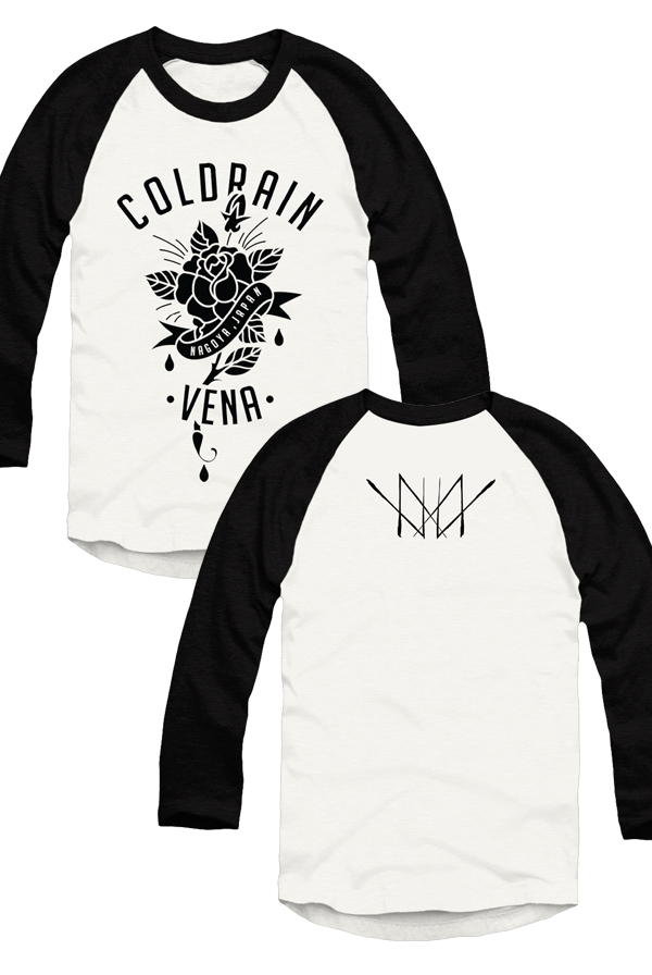 Flower Raglan (White/Black)