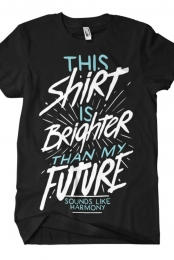 Brighter Than My Future Tee (Black)