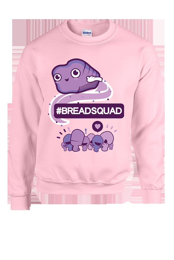 Stef Sanjati - #BREADSQUAD Crewneck Sweatshirt (Pink) | District Lines