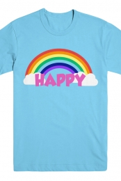 HAPPY Tee (Baby Blue)
