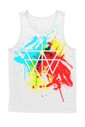 Paint Balled Tank (White)