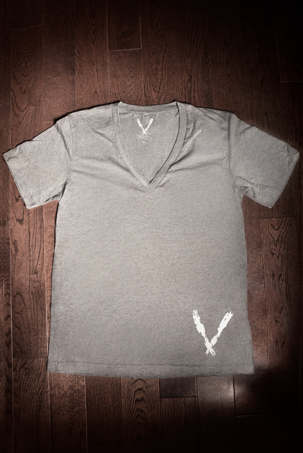 Deep V Tee (Deep Heather)
