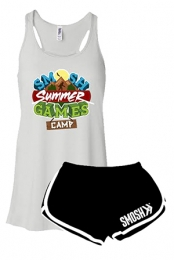 Games Girls Racerback Tank + Track Shorts