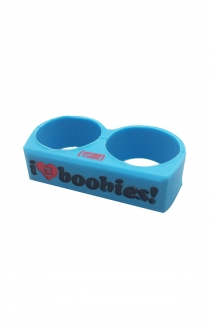 I Love Boobies Rubber Ring (Blue)
