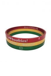 Keep A Breast Rasta Bracelet 3 Pack