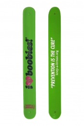 I Love Boobies Slap Bracelet (Green)
