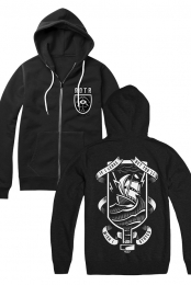 Bottle Ship Zip Up Hoodie (Black)