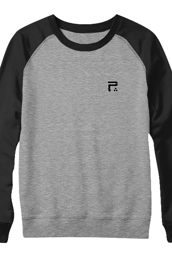 Icon Raglan Crewneck (Deep Heather/Black)