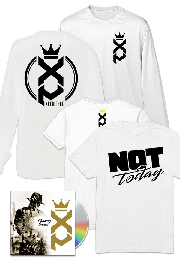 Chasing Grace CD/Digital + Not Today T-Shirt  (white) + XP - Long Sleeve (white) + Entry to XP GOLDEN TICKET Contest