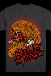 Beasting and Feasting Tee (Charcoal)
