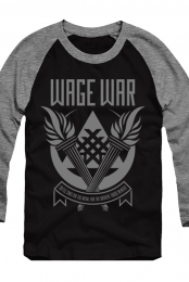 For The Weak Raglan (Black/Athletic Heather)
