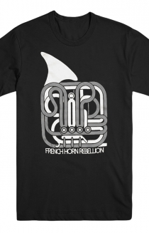 Graphic Horn Tee (Black)