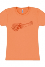 Guitar Ladies Tee (Orange)