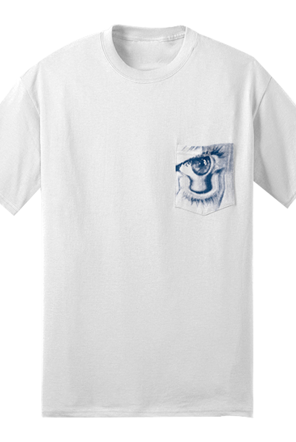 First To Cry Pocket Tee (White)