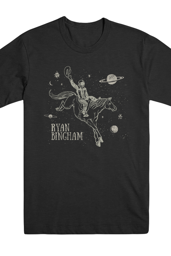 Men's Space Cowboy Shirt (Vintage Black)