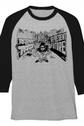 Past and Future Raglan (Black/Heather Grey)