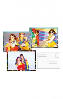Multicolor Postcard Set + Art Postcard
