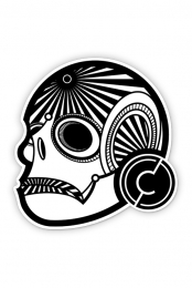 Skull Die Cut Sticker 3in