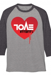 Evol Intent Baseball Tee (Charcoal/Heather Grey)