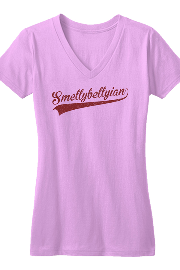 Smellybellyian Ladies V-neck (Pink)
