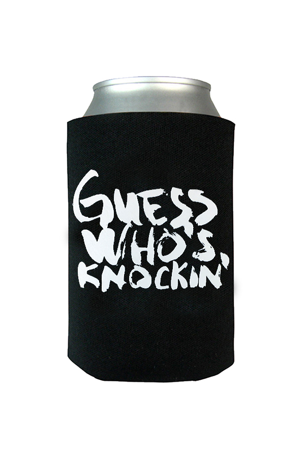 Guess Who's Knockin' Tomorrowland Koozie