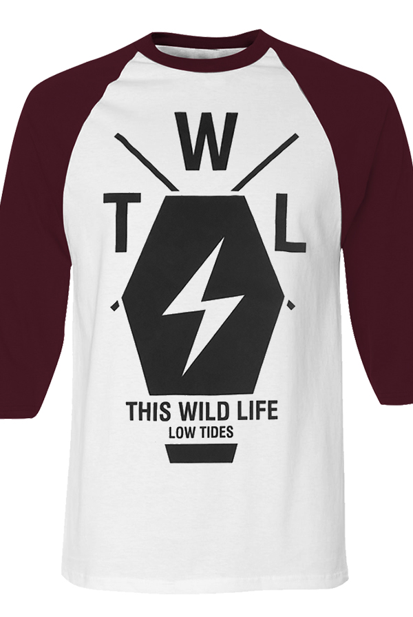 Coffin Raglan (White/Maroon)