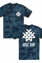 Logo Acid Wash Tee (Navy)
