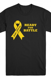 Yellow Ribbon Black T-Shirt (Mens)