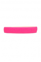 Sofie Strong Wristbands (White / Hot Pink)