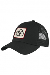 Tri-Circle Patch Trucker Hat (Black)