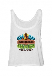Summer Games Ladies Boxy Tank (White)