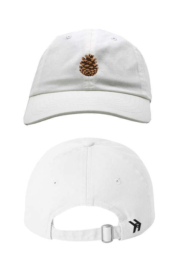 Pinecone Dad Hat (White)