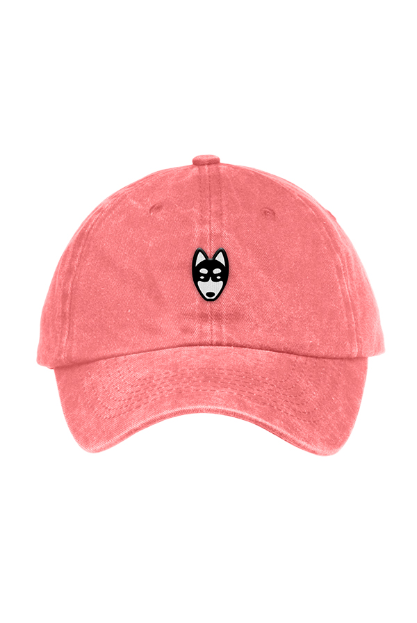 Wolf Dad Hat (Coral)
