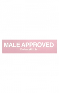 Male Approved Sticker