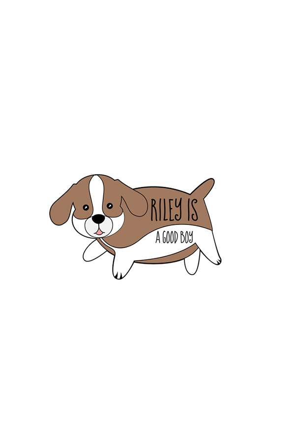 Riley Is A Good Boy Enamel Pin