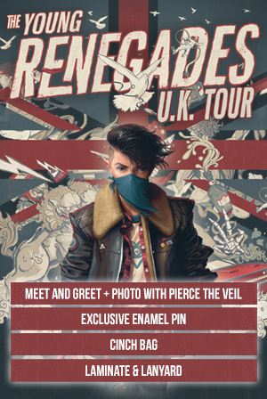 Ticketspin pierce the veil young renegades tickets vip upgrade vip upgrade 31718 london alexandra palace m4hsunfo