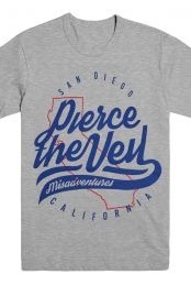 San Diego Script Tee (Heather Grey)