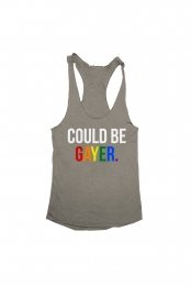 Could Be Gayer Racerback (Grey)