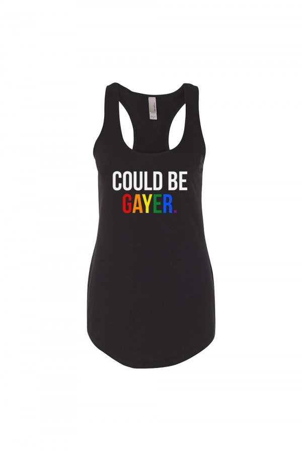 Could Be Gayer Racerback (Black)