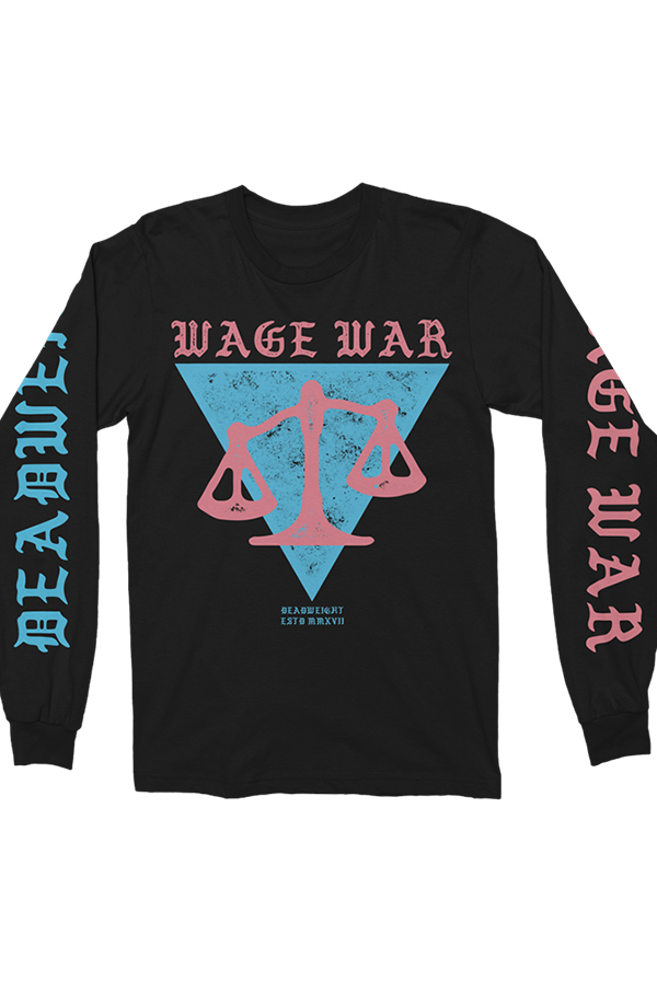 Scale Long Sleeve Tee (Black)