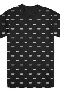 Allover Logo Print Tee (Black)
