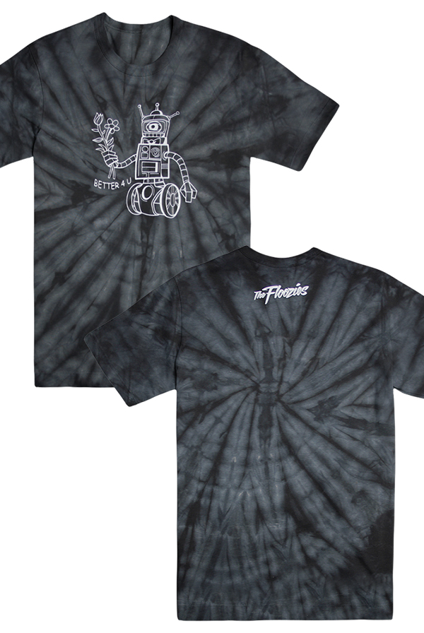 Robot Tee Black Tie Dye T Shirt The Floozies T Shirts Online