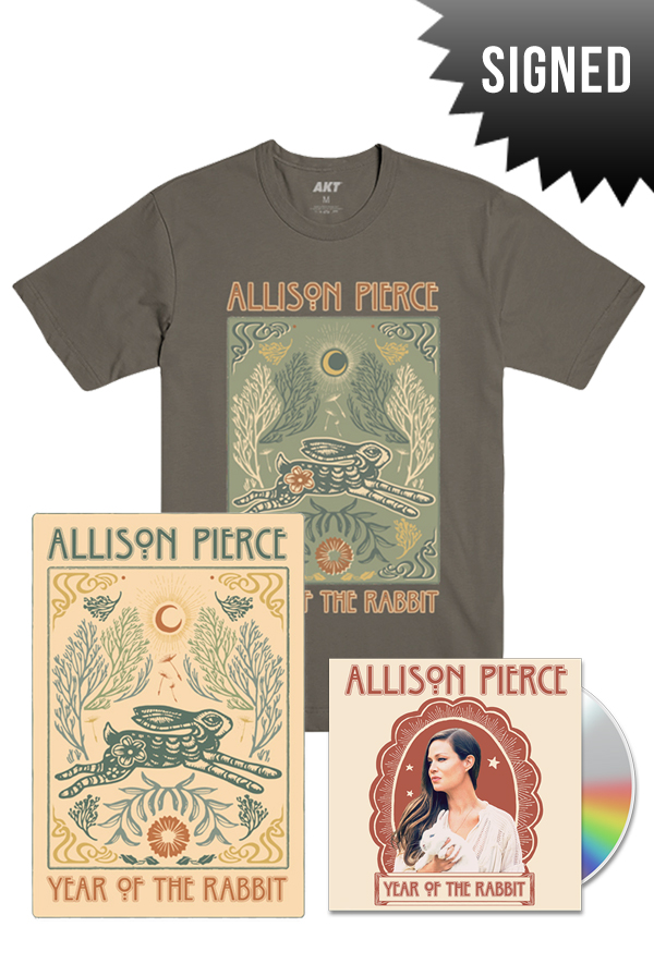 signed year of the rabbit tee bundle music allison pierce music online store on district lines. Black Bedroom Furniture Sets. Home Design Ideas
